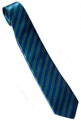 Striped Necktie Green And Blue