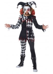 Creepy Jester Girl Costume