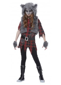 Werewolf Girl Child Costume