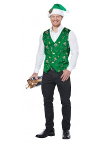 Holiday Green Vest