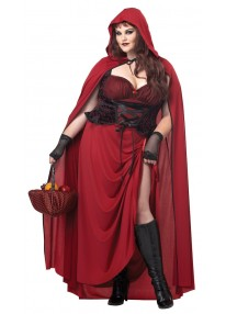 Dark Red Riding Hood Adult Plus Costume