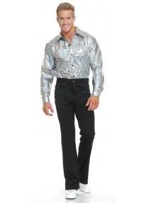 Silver Glitter Disco Shirt