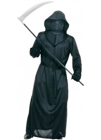 Mesh Face Robe - Black