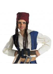 Jack Sparrow Bandana w/Hair