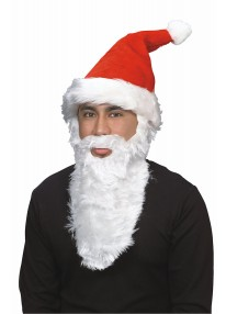 Plush Santa Hat w/Beard