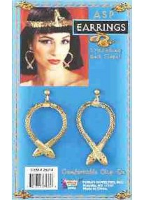 Clip On Snake Earrings