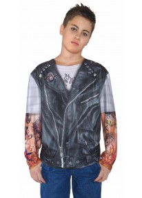 Biker Jacket Shirt Costume
