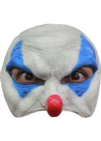 Blue Clown Half Mask