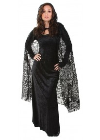 "55"" Sheer Spiderweb Cape"