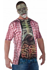 Skeleton With Guts Shirt Costume