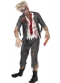 High School Horror Zombie Schoolboy Costume
