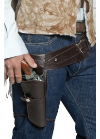 Authentic Western Wandering Gunman Belt and Holster