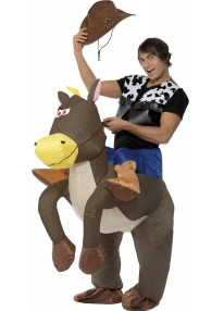 Inflatable Ride Em Cowboy Costume