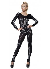 Skeleton Print Bodysuit Costume
