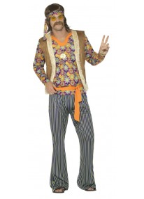 60's Hippie Singer Men's Costume
