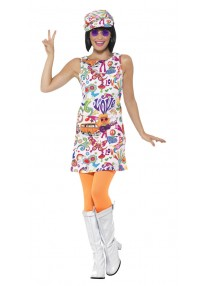 60's Groovy Chick Adult Costume