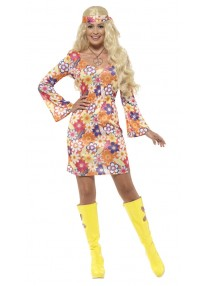 Flower Hippie Adult Costume