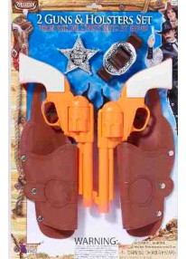 Double Holster With Gun Set