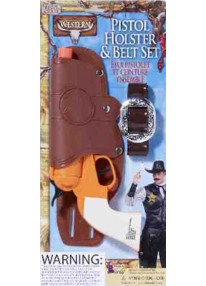 Single Holster With Gun And Belt