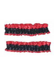 Garter Armbands Red And Black
