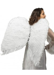 36 Inch Feathered Wings White