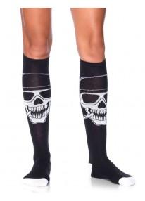 Biker Babe Skeleton Knee Highs