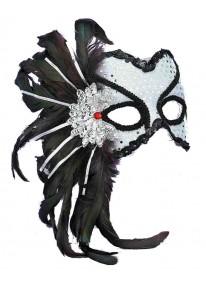 Karneval Mask Silver