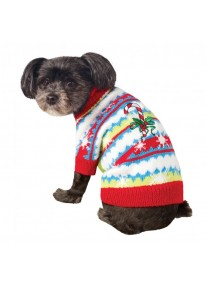 Candy Cane Pet Christmas Sweater Costume