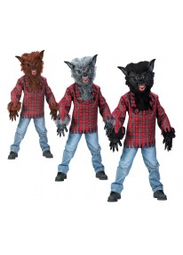 Grey Child Werewolf Costume