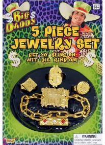 Hip Hop 5 Pc Jewelry Set