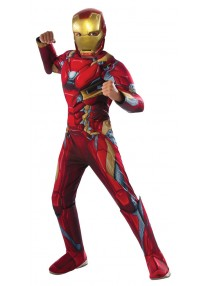 Deluxe Iron Man Kids Costume