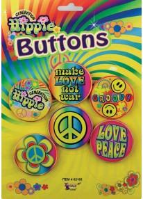 Hippie Button Set Assorted