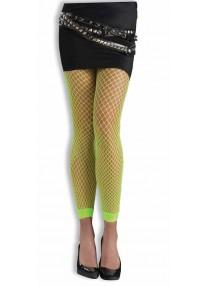 Neon Green Fishnet Leggings