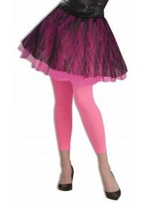 Footless Tights Neon Pink