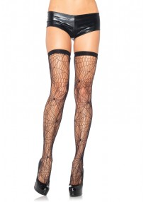 Spiderweb Net Thigh Highs