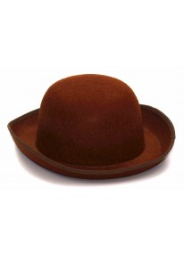 Steampunk Felt Derby Hat Brown