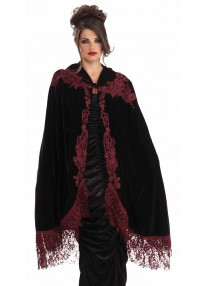 "45"" Vampiress Velvet Lace Cape"