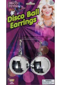 Large Disco Ball Earrings