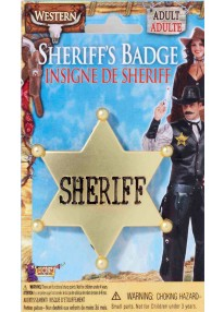 Wild Western Sheriff Badge Gold