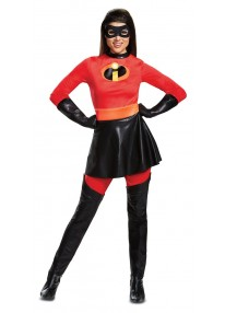 Deluxe Mrs Incredible Skirted Adult Costume
