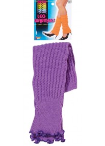 Neon Leg Warmers Purple