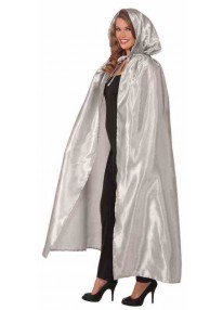 Fancy Masquerade Cape Silver