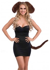 Brown Dog Ears And Tail Set