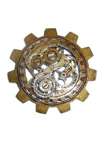 Steampunk Large Gear Brooch