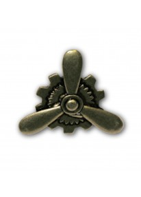 Steampunk Bronze Propeller Ring