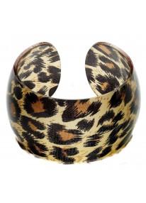 Retro Rock Leopard Bangle