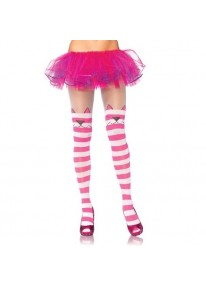 Cheshire Cat Opaque Striped Tights