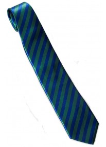 Striped Necktie Green And Blue