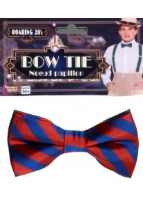 Striped Bowtie Red And Blue