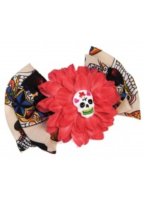 Day Of The Dead Bow Hair Clip